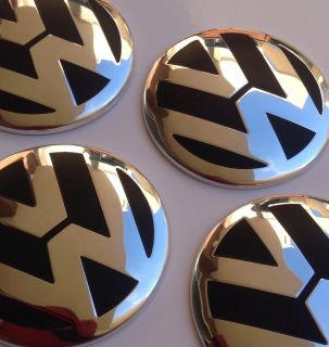 Vw Center Cap Emblem Badge Wheel Rim Decal Beetle Bug Jetta Passat