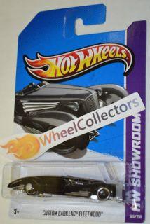 Custom Cadillac Fleetwood Black 185 2013 Hot Wheels Case F