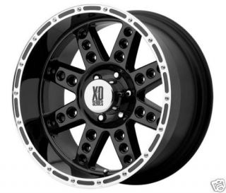 XD766 DIESEL Wheel SET Black 18X9 0 XD766 BLACK OFFROAD RIMS SET