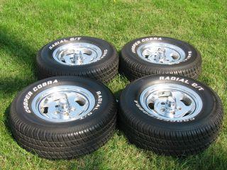 1973 Mach 1 Mustang Aluminum Wheels w Caps w Tires Set of 4