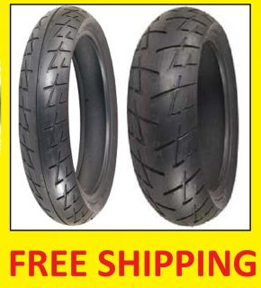New Shinko 009 120 70 17 200 50 17 MC Tire Set