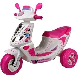 Disney Minnie Mouse 6 Volt 3 Wheel Scooter Battery Powered Ride On 2 4