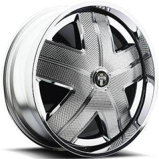 DUB SPIN HAM Wheel SET Chrome Spinner 24x9.0 RWD 5 & 6 LUG RIMS 24inch