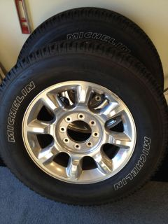 2012 F 250 20 Wheels and Tires Michelin