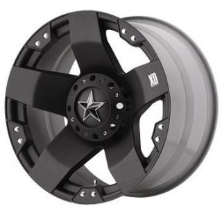 XD775 Rockstars Black 18x9 Offroad Truck Rim Wheels Nitto Tires