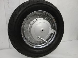 2010 Yamaha XVS650 V Star Rear Wheel Rim Tire Brake Hub Axle NICE 2156