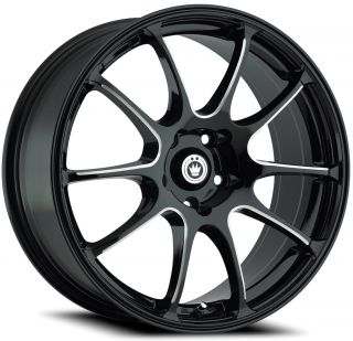 19x8 Konig Illusion Black Wheel Rim s 5x112 5 112 19 8