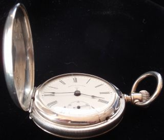 Antique Doctors Pocket Watch Waltham Size 18 Sterling Silver Case 2 1