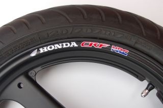 CRF HRC Wheel Rim Stickers Decals 150 250 450 230F 450R