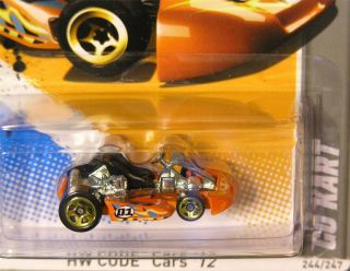 Hot Wheels 2012 224 Go Kart Orange Code Cars Series