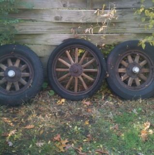 Antique Oldsmobile Wooden Car Wheels Rims old gmc wood wagon wheels