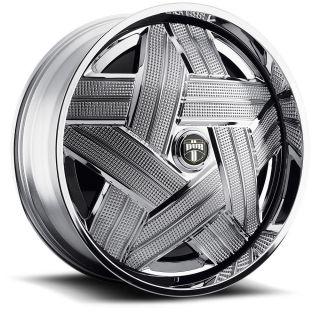 Crown Wheel Set Chrome Spinners 22x9 5 rwd 5 6 Lug Rims 22inch
