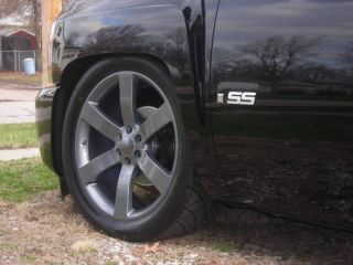 GM 1500 SS Silverado Wheels Rims & Tires Set Package Comp Grey Gray