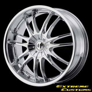 17 x7 5 HE845 Chrome 4 5 Lugs One Single Wheel Rim