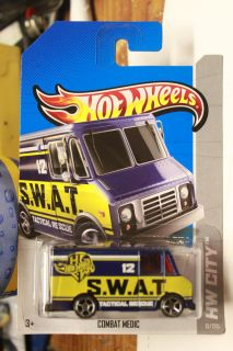 Hot Wheels 2013 HW City 12 250 Combat Medic Blue WW Card
