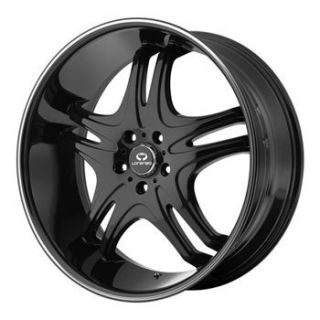 Black Wheel Set Staggered Rims 5LUG Dodge Mercedes Camaro Cts