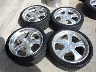 20 3 Piece Used Wheels Rims Mercedes s CL E CLK Tires Staggered