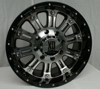 XD795 Hoss Black Machined 5 6 8 Lugs One Single Wheel Rim
