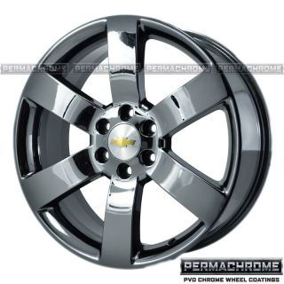CHEVROLET TRAILBLAZER SS 20 BLACK CHROME WHEELS PERMACHROME EXCHANGE