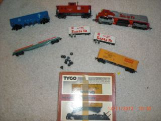 Scale Train Sets tyco electric power pack parts wheels santa fe armour