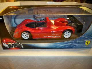Hot Wheels 1 18 Red Ferrari 333 SP Race Car New SEALED in Box