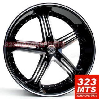 24 inch rims wheels VERSANTE VE226 ESCALADE CADILLAC SILVERADO TAHOE