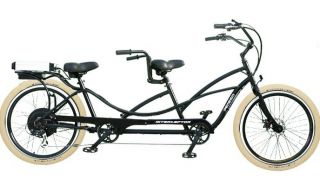 Cruiser Bicycle Bike Black Frame Rims Creme Balloon Tires