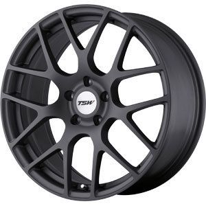 New 18x9 5 5x120 TSW Nurburgring Gun Metal Wheel Rim