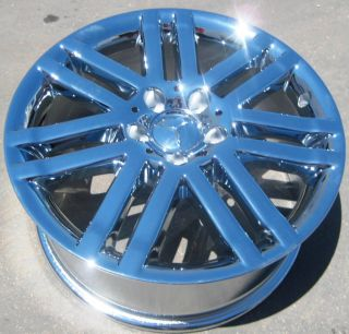 Mercedes C300 C350 E350 E550 Chrome Wheels Rims Set of 4