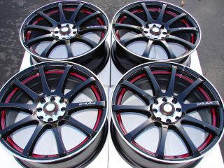 Black 4 Lug Wheels Miata Cabrio Jetta Golf Accord Cooper Rims