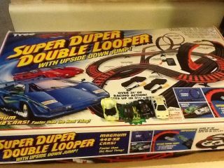 Vintage Tyco Super Duper Double Looper HO Slot Car Set 6237