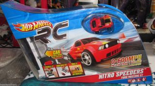 Hot Wheels RC Nitro Speeders Ford Mustang GT Red w Flames Brand New