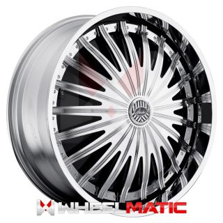 of 4 New Davin Spinners Sham II 28x10 5x120/127 +10 Wheels Rims Chrome