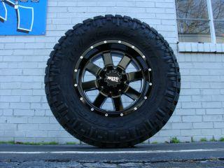 18 Moto Metal 962 Black Wheels 295 70R18 Nitto Trail MT 34 Tires GM