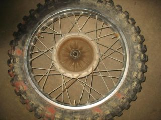 Rear Wheel Tire Rim Hub 1974 Yamaha DT360