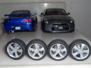 18 AUTOart MAZDA RX8 WHEELS & TIRES SET RIMS ut kyosho bbr mini parts
