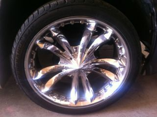 24 inch 6 Lug Jesse James 357 Mag Rims with Tires