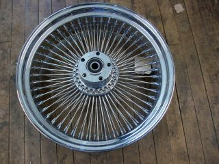 DAVIDSON HD CUSTOM CHROME 80 SPOKED WHEEL 18x5.5 FX FL REAR RIM 00 0