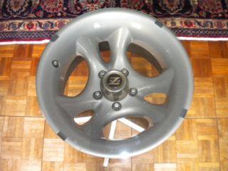 Vintage Chrome Z Racing Tire Rim End Table Automotive Furniture