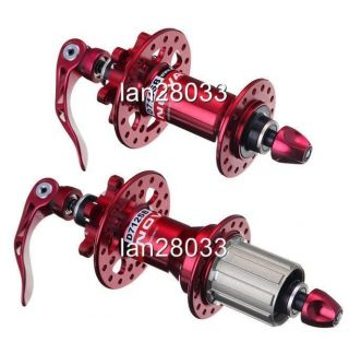 Novatec Mountain Bike Disc Hubs D711SB D712SB 408G Pair Red Fit