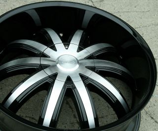 Effen 415 22 Black Rims Wheels Olds Cutlass Sierra rwd 22 x 8 5 5H 15