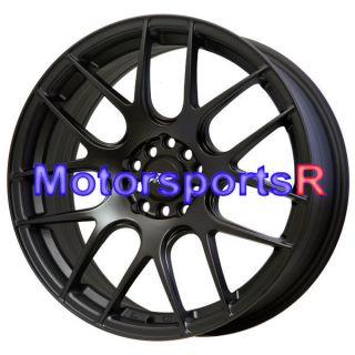 17 17x7 XXR 530 Flat Black Wheels Rims Concave 5x100 03 12 Toyota