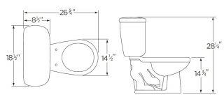 Gerber Maxwell 21 402 1 6 GPF White Toilet Set Round Bowl Slim Tank