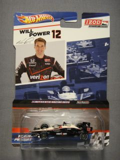 HOT WHEELS REAL RIDERS IZOD INDY CAR SERIES WILL POWER #12 DIECAST CAR