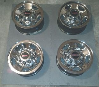 GMC 8 Lug Chrome Steel Wheels Rims 16 OEM Silverado Sierra Van 2500 HD
