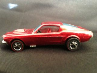 1967 Hot Wheels Redline Custom Mustang Red – Good Condition