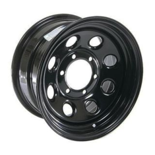 Cragar Soft 8 Black Steel Wheels 15x8 6x5 5 Set of 5