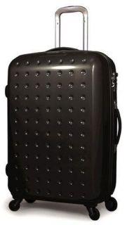 Pixelcube 30 Zippered Spinner Upright Wheels Rolling Suitcase Luggage