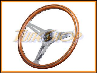 Italy Nardi Classic 360 mm Steering Wheel Mahogany Wood with Polished
