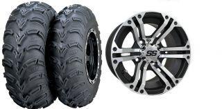 Honda Foreman 400 450 500 Rubicon 500 ITP SS212 Wheels 25 Mud Lite